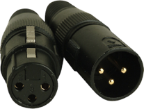 Figure 9. XLR 5-pin connectors.