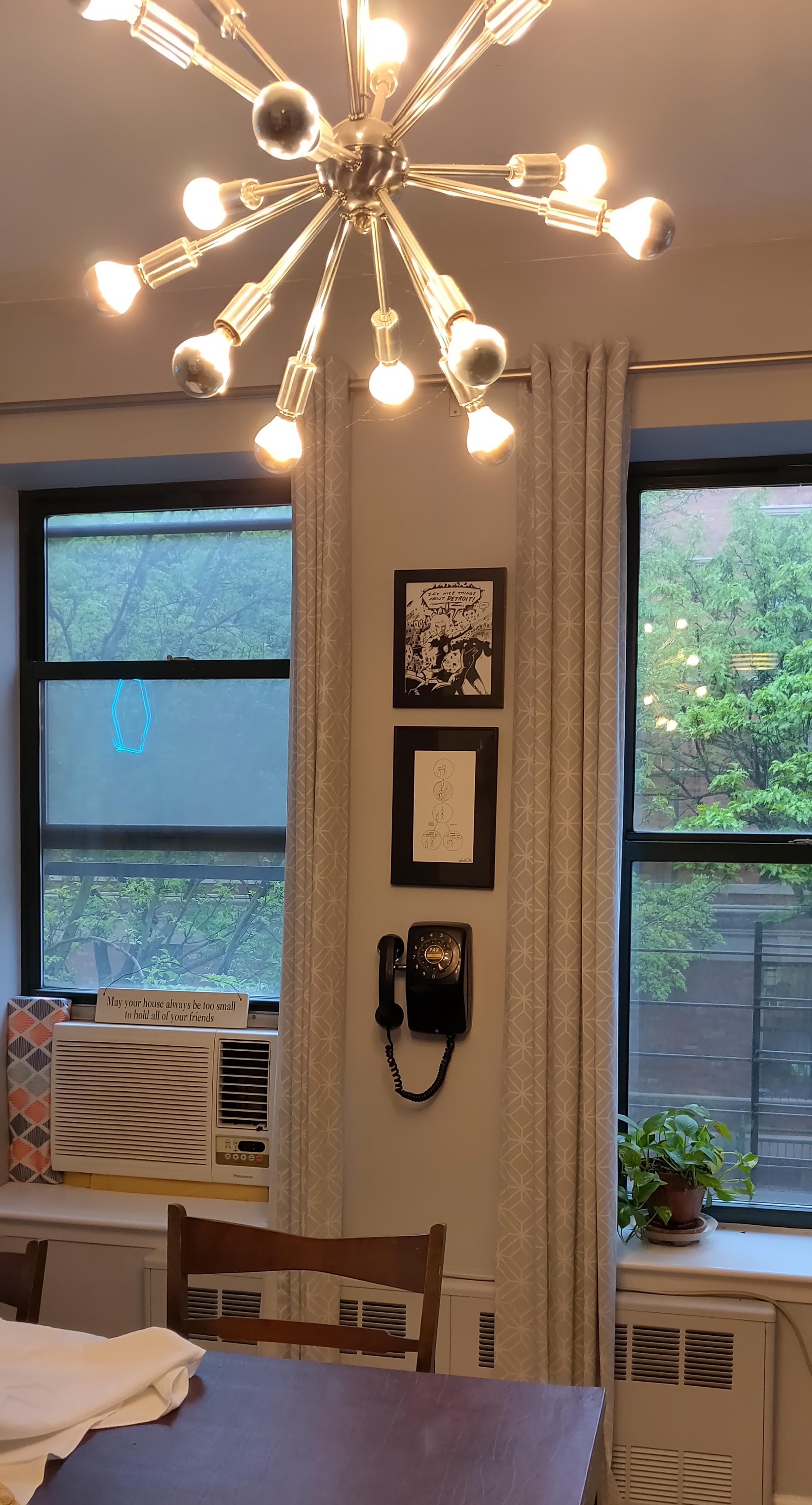 Figure 8. Rotary phone mounted near the dining table.