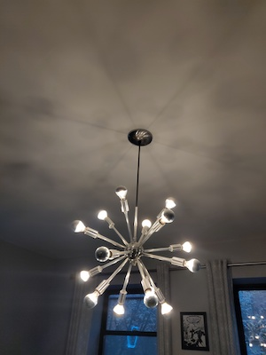 Figure 1. Sputnik chandelier